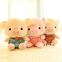 Free Shipping Hotsell Creative Fashion Pig Rabbit Doll,Car Pig Doll Pendant,Cute Plush dolls ,pink/green/chocolate