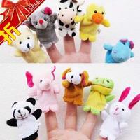 Mini animal finger doll, toy hand puppet, free shipping  30 pcs/lot