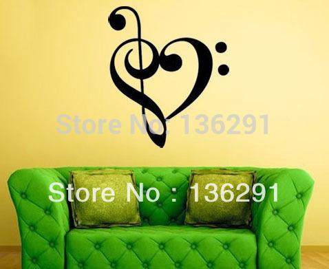 Note de musique autocollant magasin darticles for Decoration murale note de musique