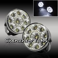 2Pcs/lot High Power Daytime Running Light 9 LED DRL Daylight Head Lamp Car Light 12V