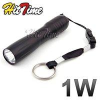 1Pcs/lot 1W LED AA Handy Camping Flashlight Torch KeyChain Light   [1767|01|01]