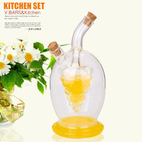 Fashion glass fashion leak oiler soy sauce bottle spice jar set kitchen supplies vinegar bottle pot