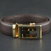 2013 men's fashion genuine leather Automatic buckle belt/waist belt animal free shipping 10 styles