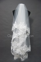 2013 One Layer White/Ivory Lace Edge Wedding Dream Bride Veil Comb Bridal Accessories
