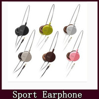 Portable 4 color wired Mobile phone earphone headphones MP3 MP4 player 3.5mm audio free shipping