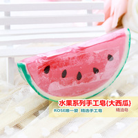 Novelty handmade essential oil soap watermelon fruit child hand soap 1a204