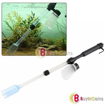 Aquarium Battery Syphon Fish Tank Vacuum Gravel Cleaner[7175|01|01]
