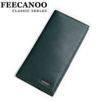 Feecanoo 2013 male wallet genuine leather long wallet design casual suit bag purse