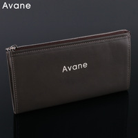 Fashion vintage avane manny super soft genuine leather long design male wallet cowhide clutch