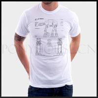 Free shipping DESIGN AT-AT walker Star Wars T-shirt cotton Lycra top Fashion Brand t shirt men new high quality
