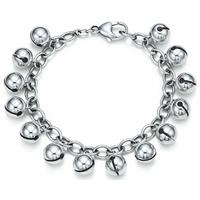 H056 Free Shipping Wholesale 925 silver bracelet, 925 silver fashion jewelry Bell Bracelet