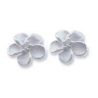 Lose money Promotion! Wholesale 925 silver earrings, 925 silver fashion jewelry, White Stone Rose Earrings E179