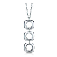 P053 fashion jewelry chains necklace 925 silver necklace silver pendant Three Quartet fall /ahta izaa