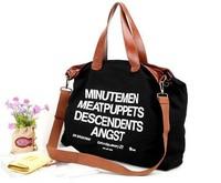 2014 Hot sell  letter Casual Canvas Bag Lady shoulder bag Women's Messenger Bags Handbag Free shipping