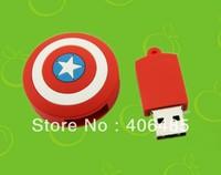 Free shipping  wholesale  30pcs/lot New Captain America Shield, U Disk 4GB 8GB 16GB 32GB 64GB USB Flash 2.0,