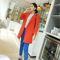 2014 new women's plus size long blazer suit colorful stylish autumn blazers jacket for women ladies long-sleeve suits M/2XL/ 3XL