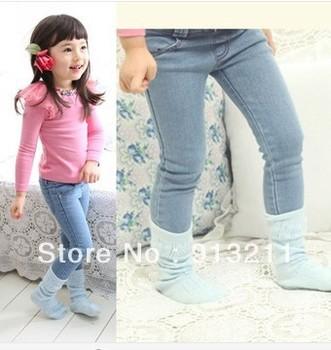 Бесплатная доставка розничные продажи 2013 новые прибытия девушки джинсы симпатичные брюки девочка джинсы девочки джинсы детские джинсы девушки