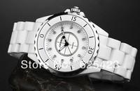 Ceramic Watch Women Rhinestone Sheet Large Dial Vintage Table Fashion Trend White Diamond