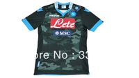 New arrival 13/14 best quality SSC NAPOLI away Camo Fight soccer football jersey! Naples away soccer jersey, size:S-XL
