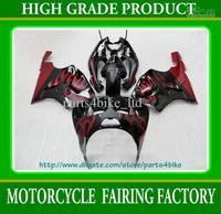 Wholesale - ABS Plastic Fairing kit for Kawasaki Ninja ZX7R 1996 - 2003 motorcycle bodywork wine red flames RX