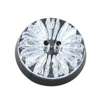1pc Colorful Round Car Auto Top Flash LED Roof Interior Ceiling Decor Lamp Light