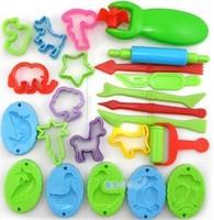 23 plasticine making tools color clay mould set