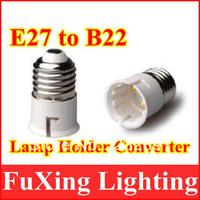 Wholesale Free shipping LED E27 TO B22 extend Base Light Bulb Lamp Adapter 50pcs/lot,E27 to B22 lamp socket,B22 holder,E27 base