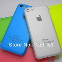for new iphone 5C case  0.5mm ultra-thin matt clear design, 100pcs a lot, free shipping by DHL
