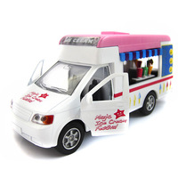 Toy car alloy WARRIOR cars baby ice cream hamburger lunchwagon acoustooptical