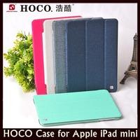 HOCO Shine Series PU Leather + Clear PC Back Sleep/Wake On Cover Case for Apple iPad mini + Free Shipping