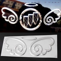 High Quality Metal Cute vinyl stickers for cars ,car accessories universal  badge ,car emblems 3d angel wings car sticker