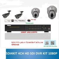 HD-SDI Dome Camera Full HD 1080P HD SDI DVR KIT 4CH MIX