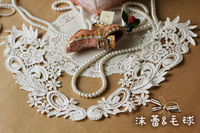 Diy handmade clothes laciness accessories lace false collar