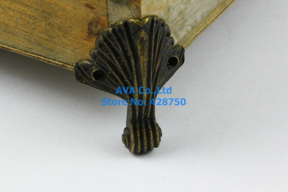 4 Pieces Antique Brass Jewelry Box Feet Animal Box Leg 32x44mm(China (Mainland))