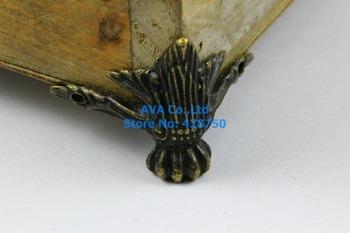 4 Pieces Antique Brass Jewelry Box Feet Animal Box Leg 42x30mm