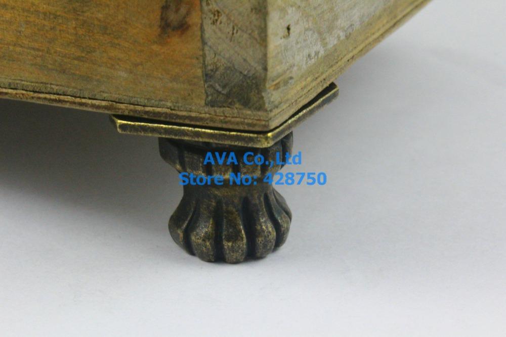4 Pieces Antique Brass Jewelry Box Feet Animal Box Leg 35x25mm(China (Mainland))