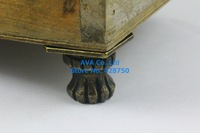 4 Pieces Antique Brass Jewelry Box Feet Animal Box Leg 35x25mm