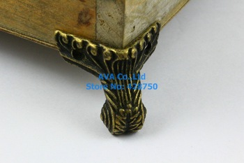 4 Pieces Antique Brass Jewelry Box Feet Animal Box Leg 38x35mm