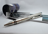 Star Walker Series 14k Platinum Luxury Ball Pen with Grid Pattern