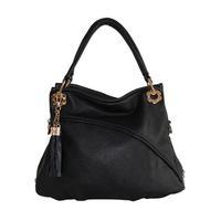 Women's handbag fashion tassel handbag soft surface PU casual cross-body bag
