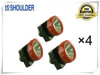 12pieces/lot China factory saling LD-4625 LED Cordless Mining Cap Light camping led headlamp Free Shipping