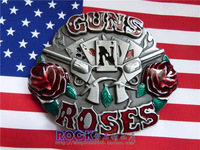 Western Belt Buckles Belt buckle rock heavy metal hiphop buckle - guns . n . ros