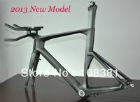 Factory supply carbon TT frame, time trial carbon triathlon bike including frame, fork & seatpost & headset & handlebar