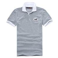 Freeshipping New cotton Gray Blue man short sleeve shirt GEXZ01G17