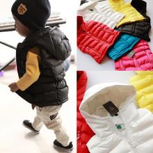 2013 Hitz Korean version of the small children in baby boys and girls, children's wear winter jacket, vest vest(China (Mainland))