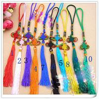 Free shipping  30pcs/lot Diy accessories chinese knot tassel car lanyard car hanging tassel