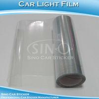 "SINO CAR STICKER 0.3x10M 12""x394""Free Shipping Hot Sale Transparent Vinyl Film For Car Headlight/Car Light Protective Vinyl Film"