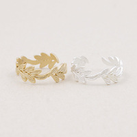 Leaf Ring Jewelry Gift Cosplay Crown Ring Silver or Gold Ring Free Ship
