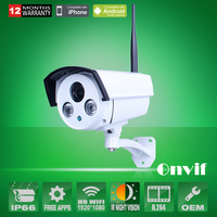 Onvif H.264 2MP1080P HD Sony Sensor Wireless Network WIFI IP Camera Array IR Outdoor Waterproof Security Camera