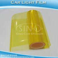 "SINO CAR STICKER  Free Shipping Yellow Car Light Vinyl Wrap Film/Car Headlight Color Change Film  0.3x10M 12""x394"""